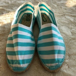 New j.crew Blue and white espadrilles size 9